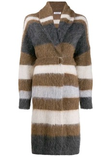 Brunello Cucinelli textured cardigan coat