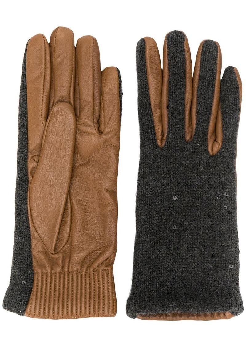 Brunello Cucinelli textured gloves