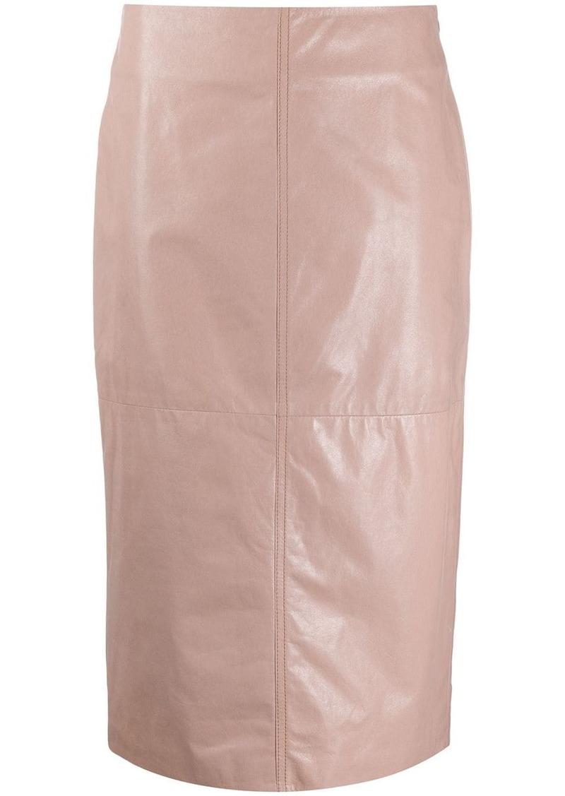 Brunello Cucinelli textured high-waisted pencil skirt