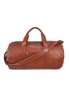 Brunello Cucinelli Textured Leather Duffle Bag