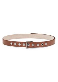 Brunello Cucinelli Textured Leather Grommet Belt