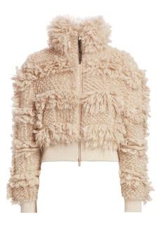 Brunello Cucinelli Textured Mohair-Blend Bomber Jacket