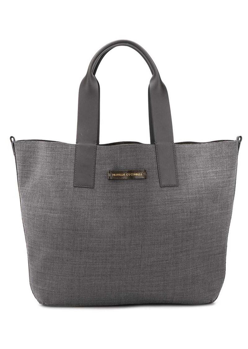 Brunello Cucinelli textured tote bag