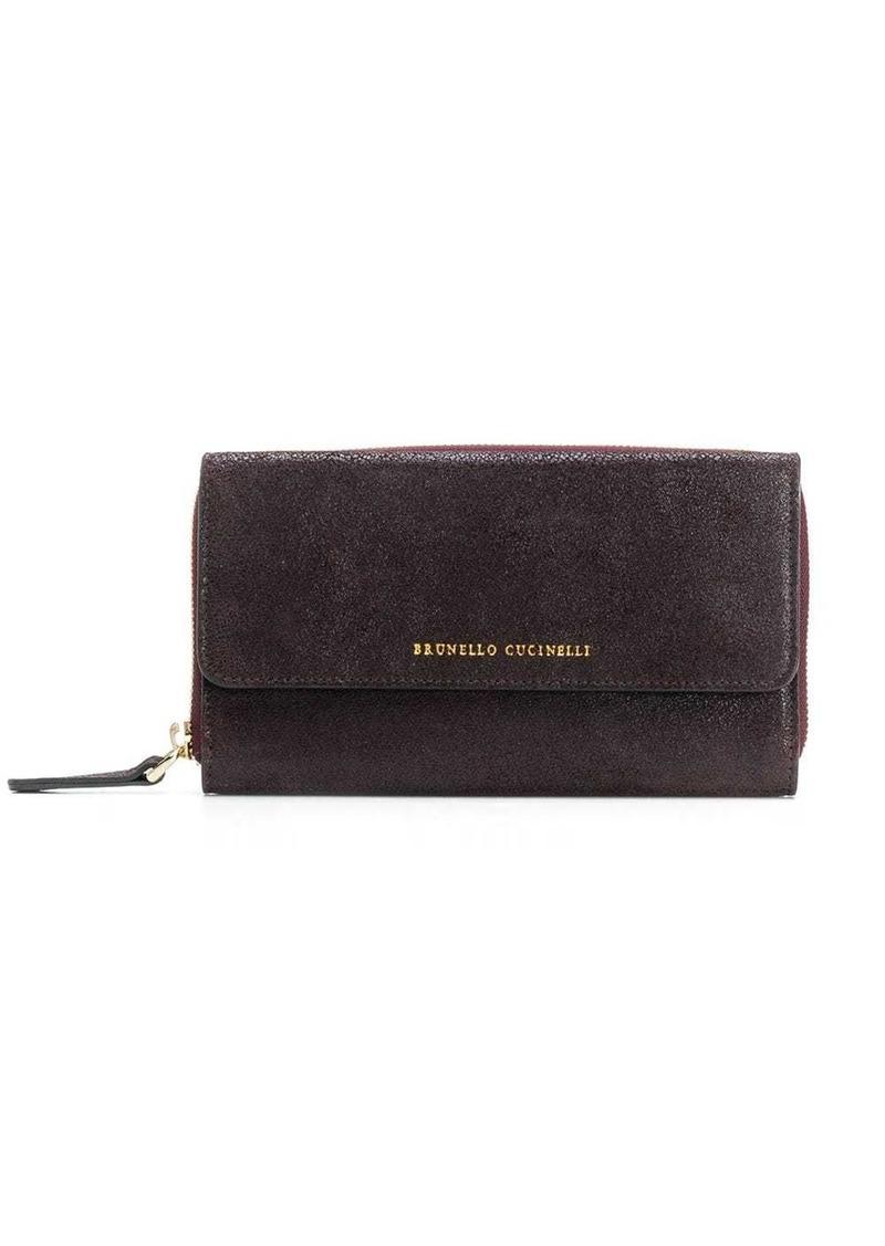 Brunello Cucinelli textured wallet
