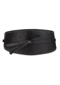 Brunello Cucinelli Tied Wide Leather Belt