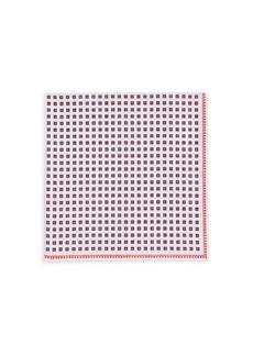 Brunello Cucinelli Tile-Print Pocket Square