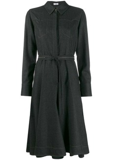Brunello Cucinelli topstitched dress coat