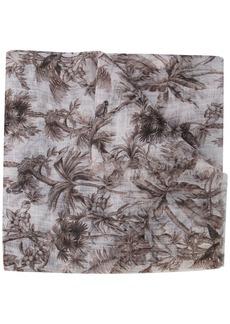 Brunello Cucinelli tree print scarf