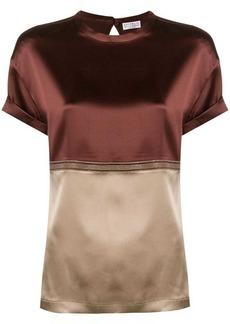 Brunello Cucinelli color blocked blouse