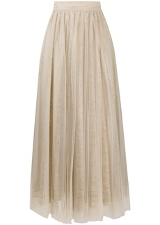 Brunello Cucinelli tulle embroidered midi skirt