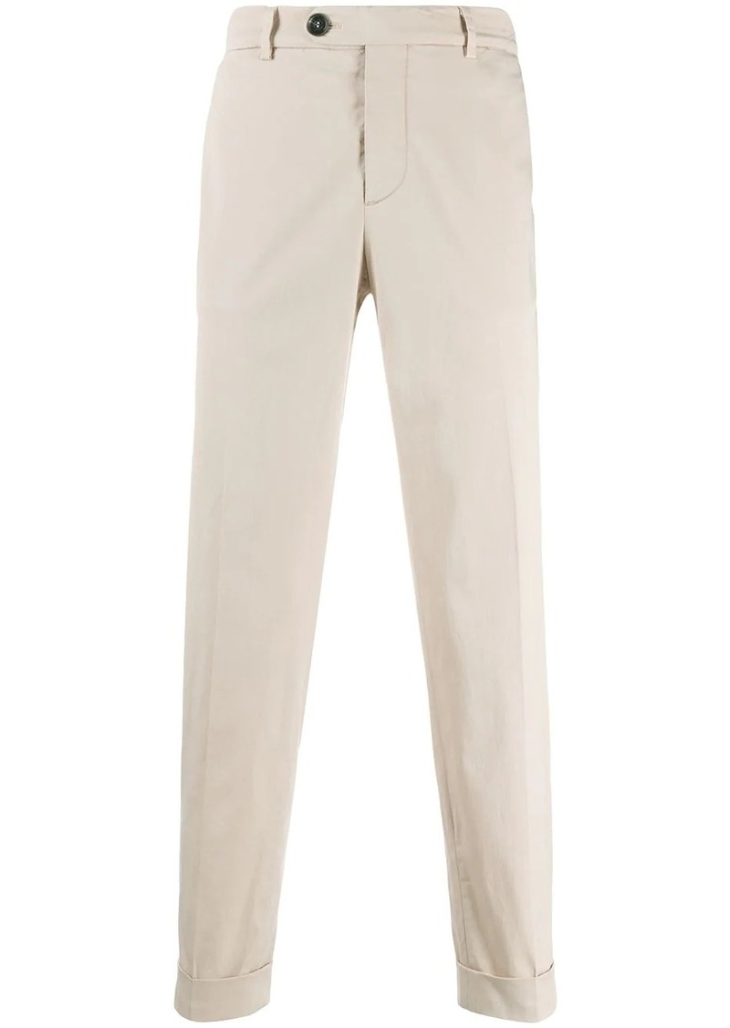 Brunello Cucinelli turn up cuff chinos