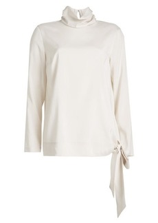 Brunello Cucinelli Turtleneck Silk Blouse