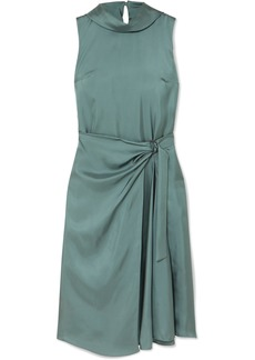 Brunello Cucinelli Twisted Silk-twill Dress