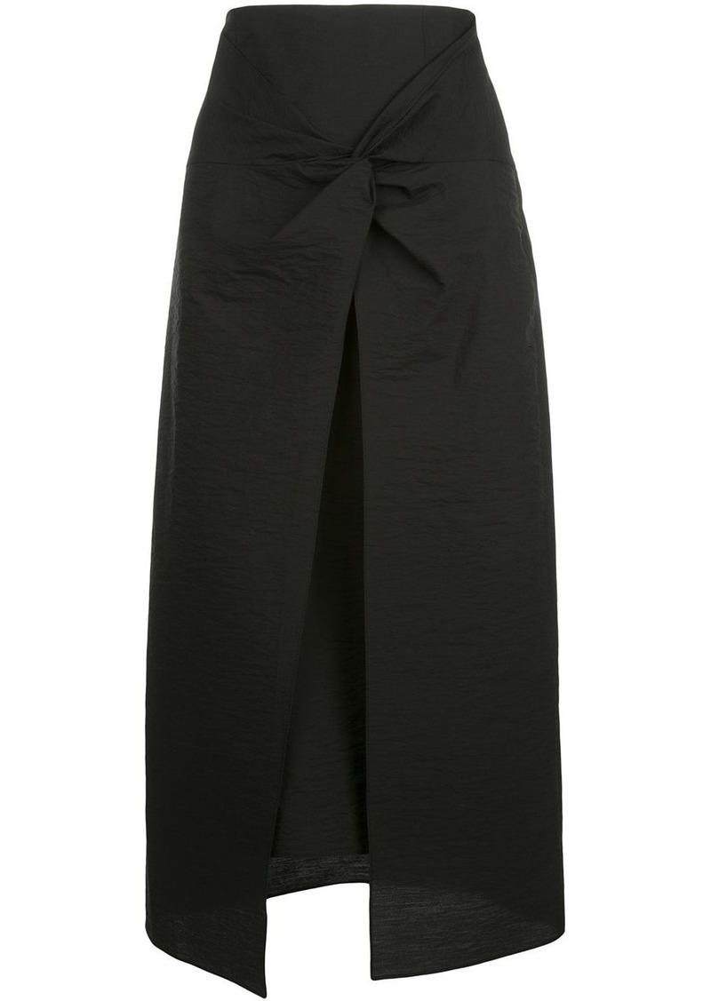Brunello Cucinelli twisted-waist A-line skirt