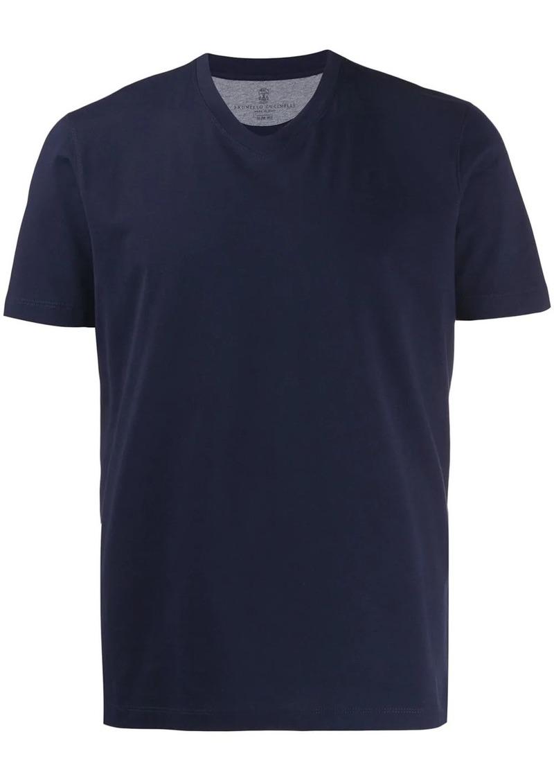 Brunello Cucinelli v-neck classic T-shirt
