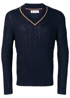 Brunello Cucinelli V-neck knit jumper