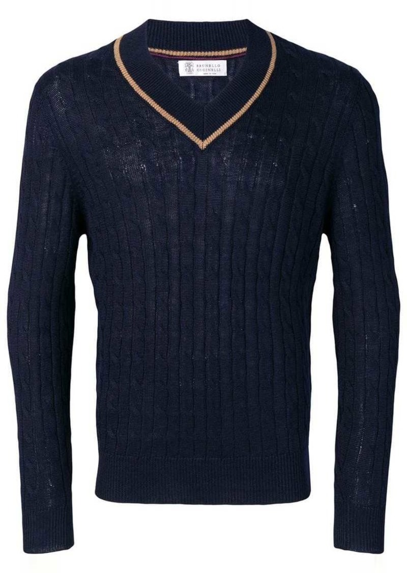 Brunello Cucinelli V-neck knit jumper