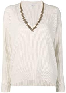 Brunello Cucinelli V-neck ribbed knit sweater