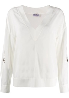 Brunello Cucinelli v-neck top