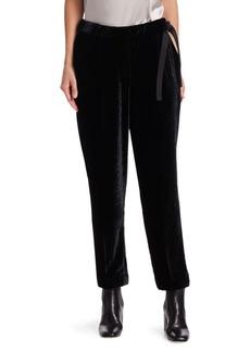 Brunello Cucinelli Velvet Side-Tie Pants