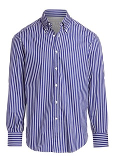 Brunello Cucinelli Vertical Stripe Sport Shirt