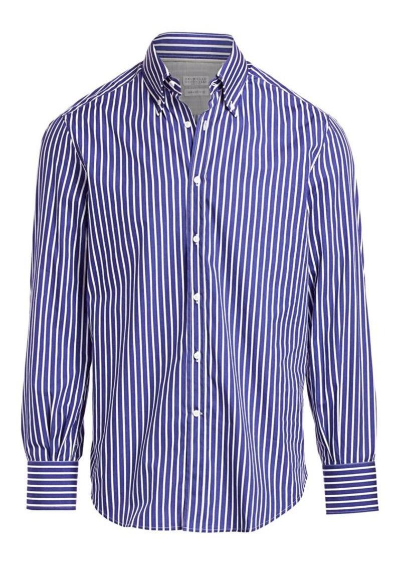 Brunello Cucinelli Vertical Stripe Sport Shirt