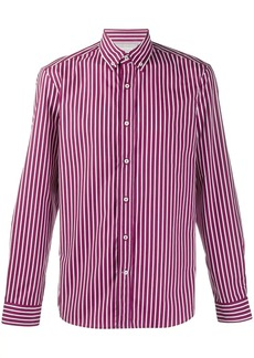 Brunello Cucinelli vertical striped shirt