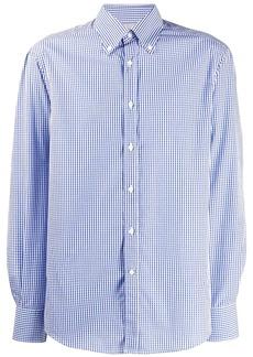 Brunello Cucinelli vichy print shirt