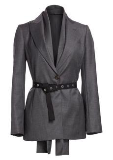 Brunello Cucinelli Virgin Wool Belted Blazer
