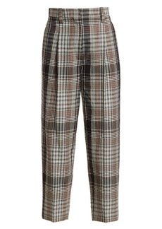 Brunello Cucinelli Virgin Wool Check Trousers