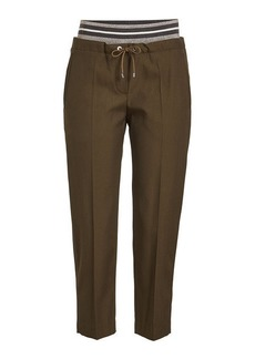 Brunello Cucinelli Virgin Wool Pants with Drawstring