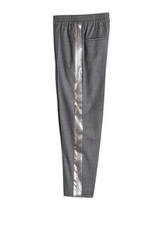 Brunello Cucinelli Virgin Wool Pants with Satin