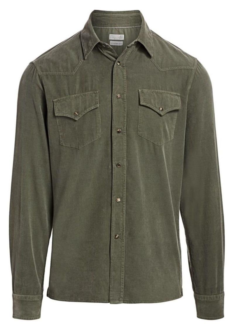 Brunello Cucinelli Western Corduroy Shirt