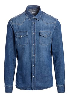 Brunello Cucinelli Western Denim Sport Shirt