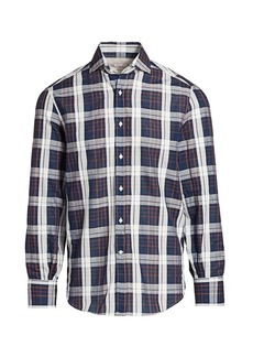 Brunello Cucinelli Windowpane Check Shirt