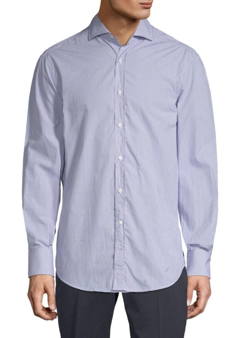 Brunello Cucinelli Windowpane Cotton Button-Down Shirt