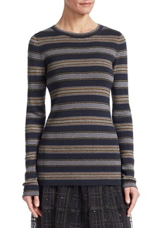 Brunello Cucinelli Wool and Cashmere Striped Top
