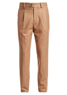 Brunello Cucinelli Wool Pinstripe Pants