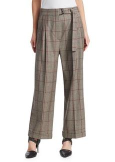 Brunello Cucinelli Wool Plaid Pants