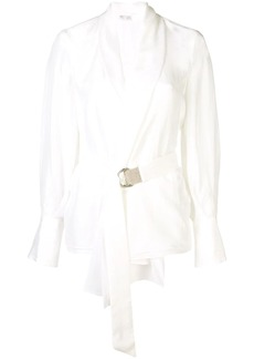 Brunello Cucinelli wrap blouse
