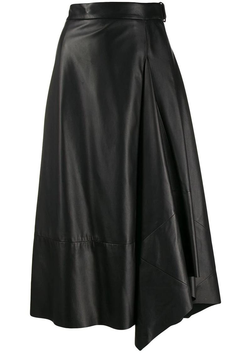 Brunello Cucinelli wrap midi skirt