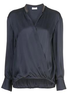 Brunello Cucinelli wrap style drape blouse