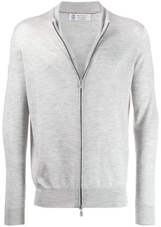 Brunello Cucinelli zip fine knit cardigan
