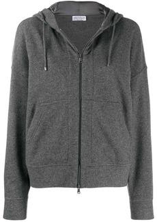 Brunello Cucinelli zip front hoodie