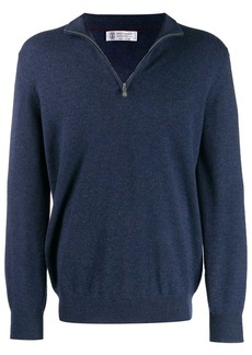 Brunello Cucinelli zip front jumper