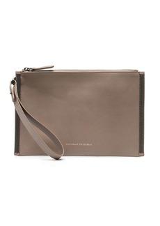 Brunello Cucinelli zipped clutch bag