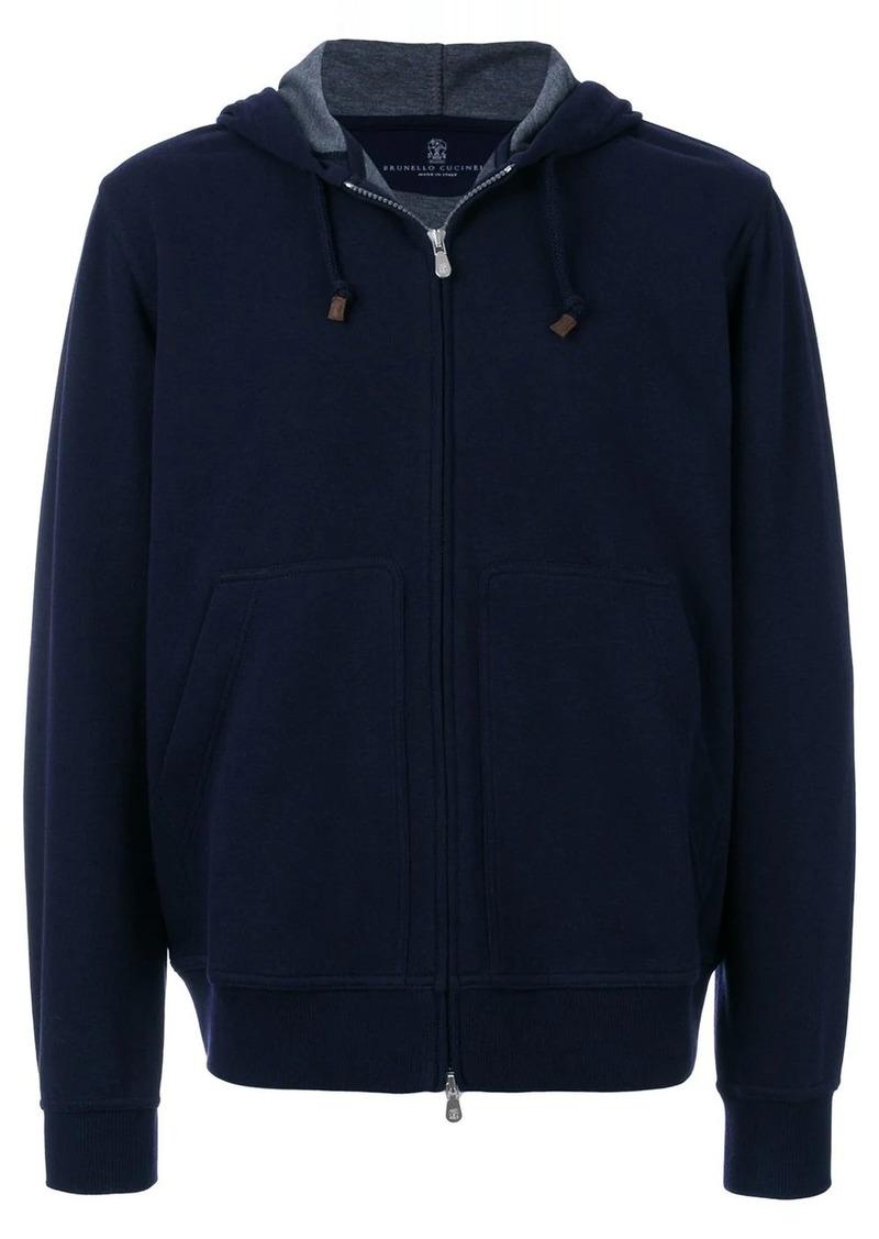 Brunello Cucinelli zipped front hoodie
