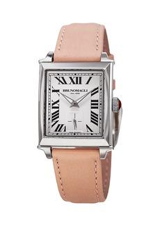 Bruno Magli 27mm Valentina Rectangular Watch  Blush/Silver