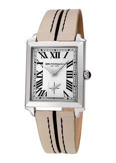 Bruno Magli 28mm Valentina Rectangular Watch  Nude/Black