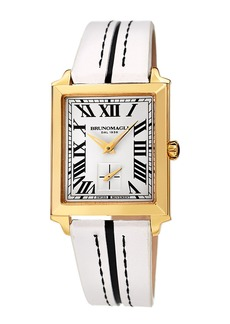 Bruno Magli 28mm Valentina Rectangular Watch  White/Black